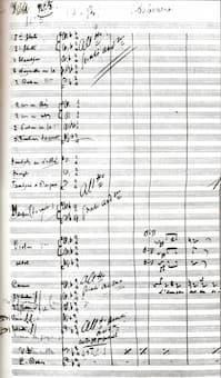 Habanera from Carmen, original manuscript