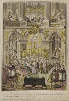 Marriage of dauphine of France and Louis XVI, 1770