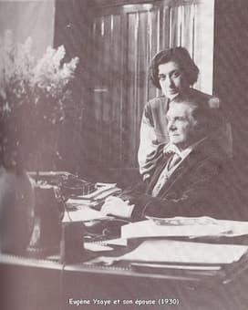 Eugène Ysaÿe, Louise Bourdau and Jeannette Dincin <br></noscript><img class=