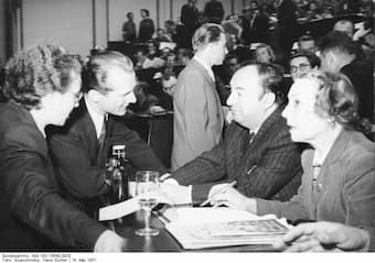 Neruda and Erich Ernst Paul Honecker, 1951