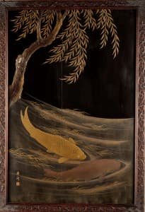 Japanese lacquer panel that inspired Debussy's Poissons d'Or