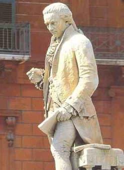 Piccinni Statue in his hometown Bari