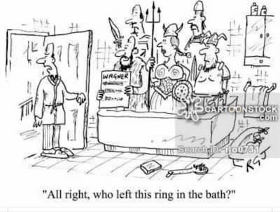 who left this ring in the bath?