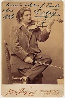 Signed card of Eugène Ysaÿe, 1904