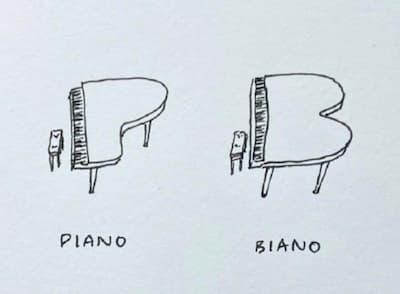 Piano vs Biano?