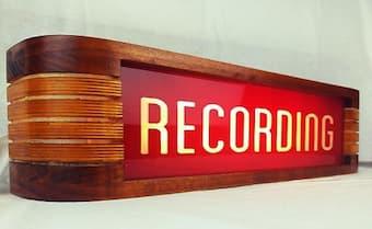 recording warning sign