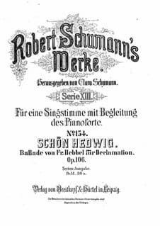 Robert Schumann: Schön Hedwig