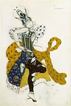 Leon Bakst: Sketch for La Péri's costume (1911)