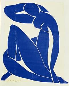 Matisse: Blue Nude II (1952) (Pompidou Centre, Paris)
