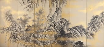 Iuchi Koho: Red Cliff (screen painting) (1925)