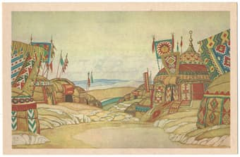The Polovtsy Camp by Ivan Bilibin (1930)