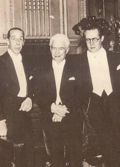 Lamberto Baldi, Manuel Ponce and Andrés Segovia