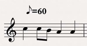 metronome marking example