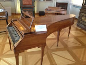 Mozart's piano in his memorial house in Salzburg