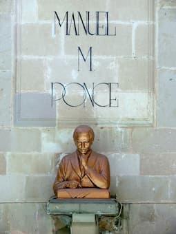 Sculpture of Manuel Ponce