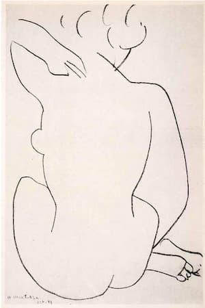 Matisse: Seated Nude Back View (1958)