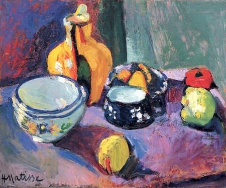 Matisse: Vase with Fruit (1901) (St. Petersburg, Hermitage)