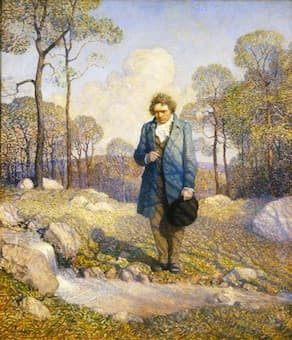 N.C. Wyeth: Beethoven and Nature (1917) (Steinway Art Collection)