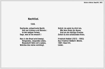 Friedrich Hebbel: Nachtlied