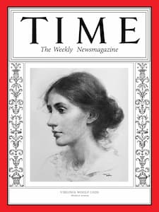 Virginia Woolf on Time Magazine Cover, 1929