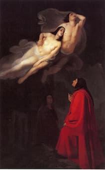 Giuseppe Frascheri: Dante e Virgilio incontrano Paolo e Francesca