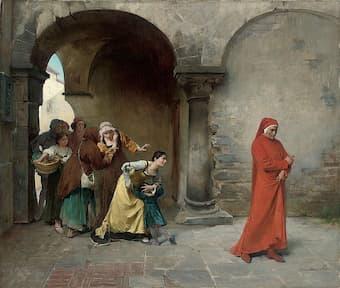 Dante in Verona, by Antonio Cotti