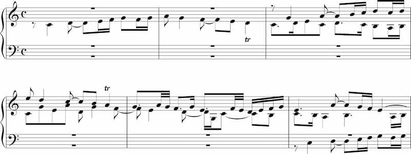 J.S. Bach: Fugue in C major, BWV 946