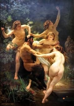 Bouguereau: Nymphs and Satyr (Pan) (1873)