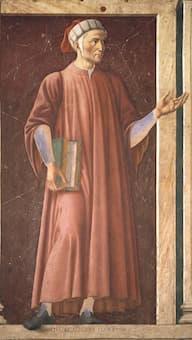 Portrait of Dante by Andrea del Castagno