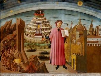 Dante and His Poem by Domenico di Michelino