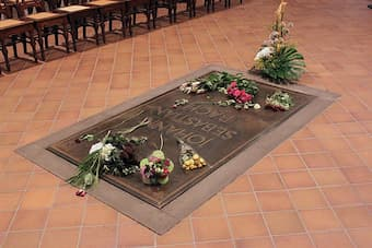 Grave of Bach in Leipzig