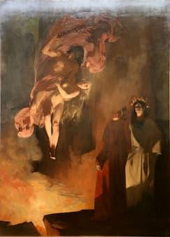 Henri Martin: Paolo and Francesca da Rimini in Hell