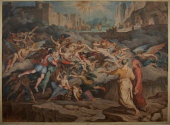 Joseph Anton Koch: Dante and Virgil in the Second Circle in Hell