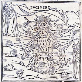 Illustration of Lucifer in the first fully illustrated print edition of Dante's Divine Comedy.