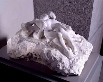 Auguste Rodin: Paolo et Francesca, or Couple damné