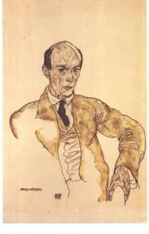 Schiele: Arnold Schoenberg (1917)