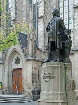 Statue of J.S. Bach in Leipzig