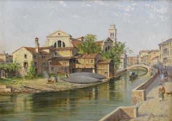 View of the Squero di San Trovaso, Venice