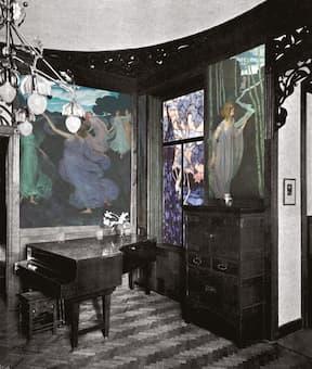 The Villa Scheid music room (recreated)