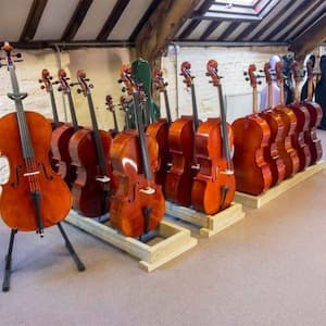 Cello shop and display