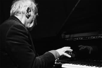 Frederic Rzewski at the piano