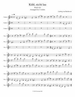 "Beethoven: Canon ""Kühl, nicht lau"""