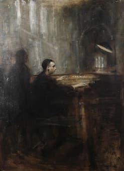 Marcel Dupré at the organ of Notre Dame