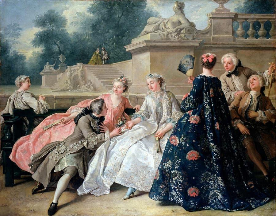 Jean François de Troy: La Déclaration d'amour (1731) (Berlin: Charlottenburg Palace)