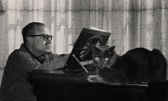 Alberto Ginastera and his cat