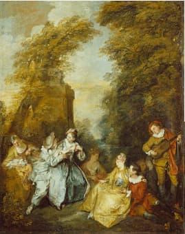 Lancret: Conversation galante (1719) (The Wallace Collection)