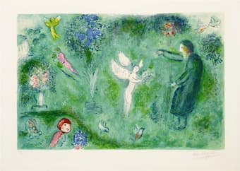 Marc Chagall: Philetas's Orchard, from Daphnis and Chloe