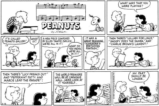 Peanuts Ellen Taaffe Zwilich