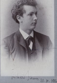 The young Richard Strauss, age 22 (1886)