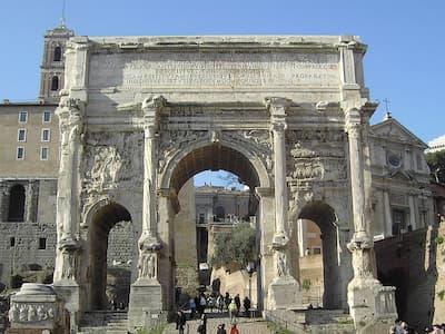 Arch of Septimo Severo in the Roman Forum